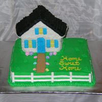 Housewarming I had someone ask me to do a housewarming cake, and of course I came here for some ideas. I found a cake like this someone had done. It was...
