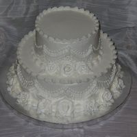 Small Wedding Cake I had someone call me on Friday for a cake for the next day. It was for a small wedding so I was able to put this one together for them. I...