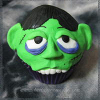 Zombie Cupcake For Halloween