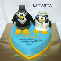 Under The Sea Linux Wedding Cake