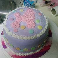 Poodle 'n Polka Dots!  I made this for my boss to give to her granddaughter for her first birthday. Strawberry cake with strawberry buttercream filling, covered (...