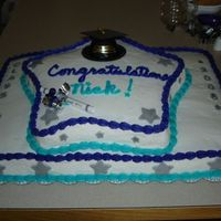 Star Graduation Cake A cake I made for my cousin's graduation. :) My first cake for an actual gathering -- I prayed hard that this one would turn out, lol...