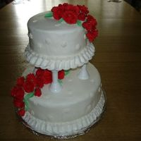 Wilton Course Lll Wedding Cake This is the final cake I made for my Wilton course lll! I loved working on it, even though making all those fondant roses was a very time-...