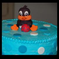 Baby Looney Tunes Shower Cake