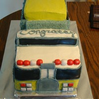 Fire Engine Cake First time I made a 3d cake. Buttercream with fondant accents. TFL