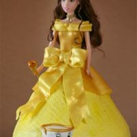 Belle Princess Made this for a friends daughter's bday. The bottom of thedress is buttercream and the top and details are fondant.