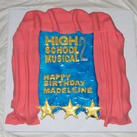 High School Musical 2 Made for a little girls birthday party. It was design after the HSM2 logo with the water behind it. This was a really hard theme. It's...