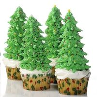 Christmas Tree Cupcakes made these for an office party. Big hit! Very fun and easy to make but very time consuming! I made like 70 of them!