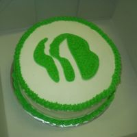 "Nia's Girl Scout Troop Cake   10"" round yellow cake with Bavarian Cream filling and buttercream frosting. YUM YUM YUM"