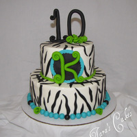 Kinley's Wild Party Buttercream with fondant accents