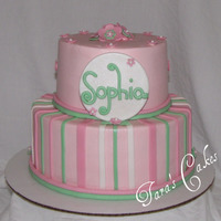 Sophia Buttercream with fondant accents