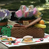 Picnic Picnic basket is 2 cakes stacked and iced in chocolate buttercream. With the exception of the basket lid and the wires on the ants,...