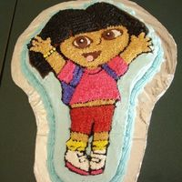Dora Birthday Cake   Dora cake done for a friend's daughter. Buttercream frosting
