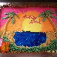 Luau Cake   First paid order!! Customers daughter picked this one out, inspired by easdavis3