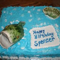 Fish Cake   Darn Good Chocolate cake with buttercream frosting TFL!!