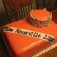 Miss Knoxville  Obviously this cake was for Miss Knoxville. It was for a celebration party after the Miss Tennessee Pageant. The crown is gumpaste, royal...