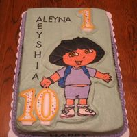 121_2148.jpg   This is my second Dora FBCT cake. Made for a co-worker's daughter and niece.