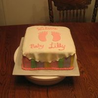 Baby Lilly  This was a cake for a co-worker's baby shower. It was double chocolate cake with chocolate frosting, the mom's request. I had a...