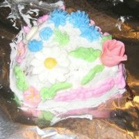 Savannah's Cake My 6 year old daughter's 2nd cake. This time she even iced it herself.