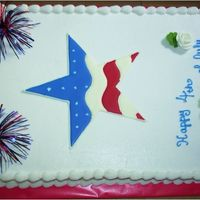 4Th Of July - 2006 First half-sheet cake ever! Didn't look as nice as some of the others in the gallery, but I really am proud of it. The star is...