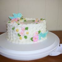 Wilton Class Ii Cake Thanks to many who answered my forum topics about basketweave and daisies I finished my cake in class and was so happy with how it turned...
