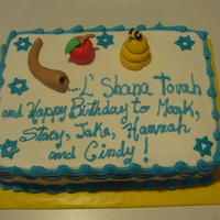 Rosh Hashanah I made this cake for a Jewish family celebraring the New year and lots of b-days this month, chocolate cake with chocolate pudding, I offer...