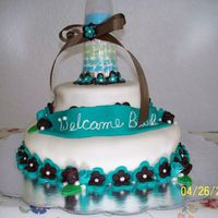 Baby Shower Cake I owe mad Thanks to Karmic Cakes for the idea of this cake. I put my own spin on the cake and I had some hard times trying to get the cake...