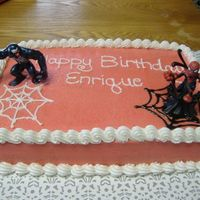 My Son's 6Th Birthday Spiderman cake