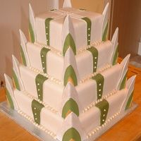 Wedding Cake In Green And Gold