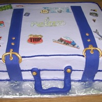 Retirement Cake Chocolate cake with raspberry filling and raspberry bc icing. This is my first suitcase cake. The lady I made it for wanted bc instead of...