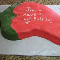 Chili Pepper Birthday Cake Birthday cake for a friend. We had a mexican themed party.