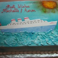 U.s.s. Matrimony This is a bridal shower cake. The couple is going on a cruise for their honeymoon. The lady who ordered the cake just ask me to tie the...
