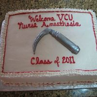 Nursing Larngoscope Vcu Cake for the incoming nurse anesthesia class at VCU. Laryngoscope is made from gumpaste. My step-son who is the president of the graduating...
