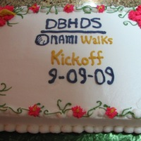 Nami Walk Charity Cake A charity cake that I made for my daughter. The event was a walk for the mental health department. The cake is WASC with pineapple filling...