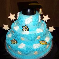 "Reach For The Stars   Graduation cake ""Reach for the stars"" theme."