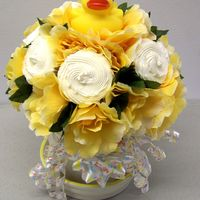 Ducky Cupcake Bouquet   Cupcake bouquet for baby shower