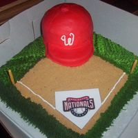 Nationals Washington Nationals Press Release party cake.