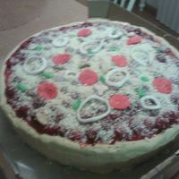 Pizza Cake A lot of people at my work are moving floors some leaving and some new hires. I deiced to make a pizza cake for them. I brought it in a...
