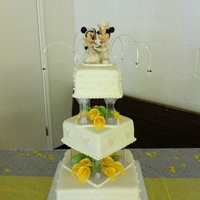 Disney Themed Wedding Cake
