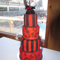 """nightmare Before Christmas"" Wedding Cake"