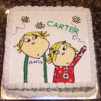 Charlie And Lola Charlie and Lola Buttercream from a photo provided by the customer.