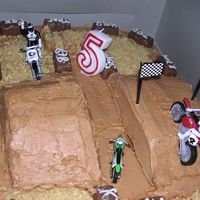 Motocross Birthday Cake