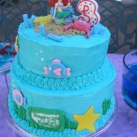 Mermaid   I made this cake for my niece. She LOVES mermaids, thus the theme of the cake! :-)