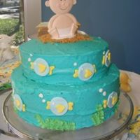 "Under The Sea With Baby And Me  I made this cake for a friend, who is expecting a baby boy soon.The theme of the shower was ""under the sea with baby and me"" to..."