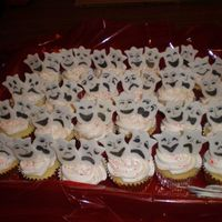 Theater Cupcakes Cupcakes for theatre luncheon with comedy/tragedy masks