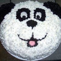 Panda Cake  Here is a cake I just finished. I made it for my fiance's birthday. It is only the second cake I have decorated! I thought it turned...