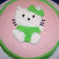 First Cake Ever - Wilton Class I   Here is my first cake. I decided to do a piping gel transfer of Hello Kitty. Please be gentle! :)