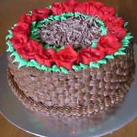 Ring-A-Ring-A-Roses I made this cake for one of a luncheon at our church. The cake was finished in 5 mins! I put some chocolate shavings in the middle as I...