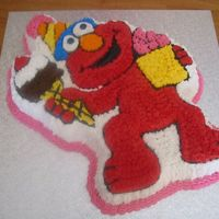 Elmo Cake This is my first attempt at a novelty pan. This was a birthday cake for my niece.