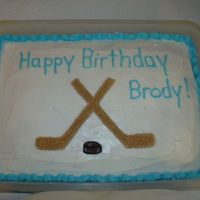 Crossed Hockey Sticks It was my grandson's birthday and I had to come up with an idea for a cake. Since he loves hockey I figured the crossed sticks was a...